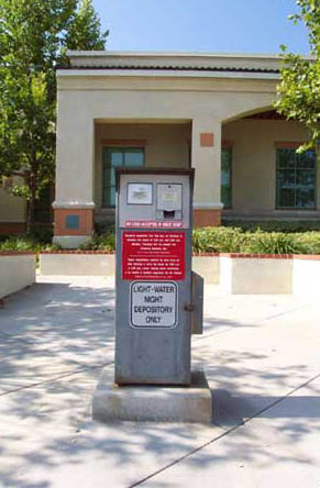 Payment Drop Box in front of Light and Water Building