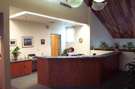 Administration desk on 2nd floor of Light and Water building