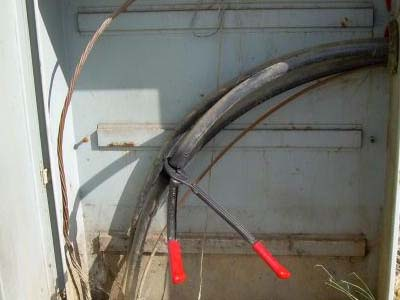 Theft of copper wire is illegal and can cause death if not careful