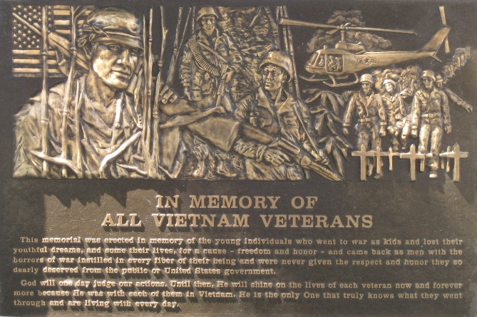 Viet Nam War Memorial Plaque at Azusa City Hall
