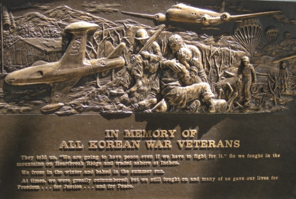 Korean War Memorial Plaque at Azusa City Hall