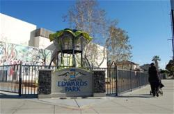 The entrance to Edwards Park