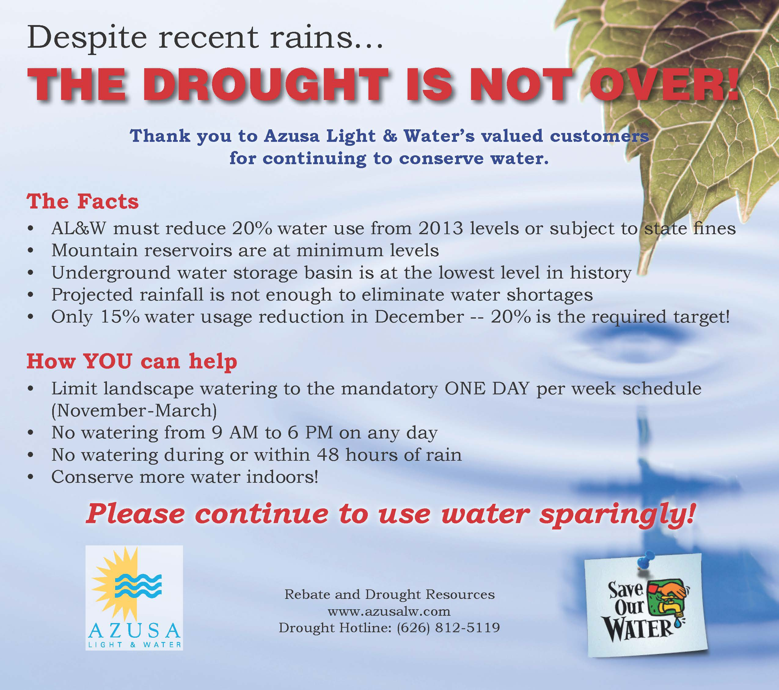 San Gabriel Examiner-Drought is Not Over-011416