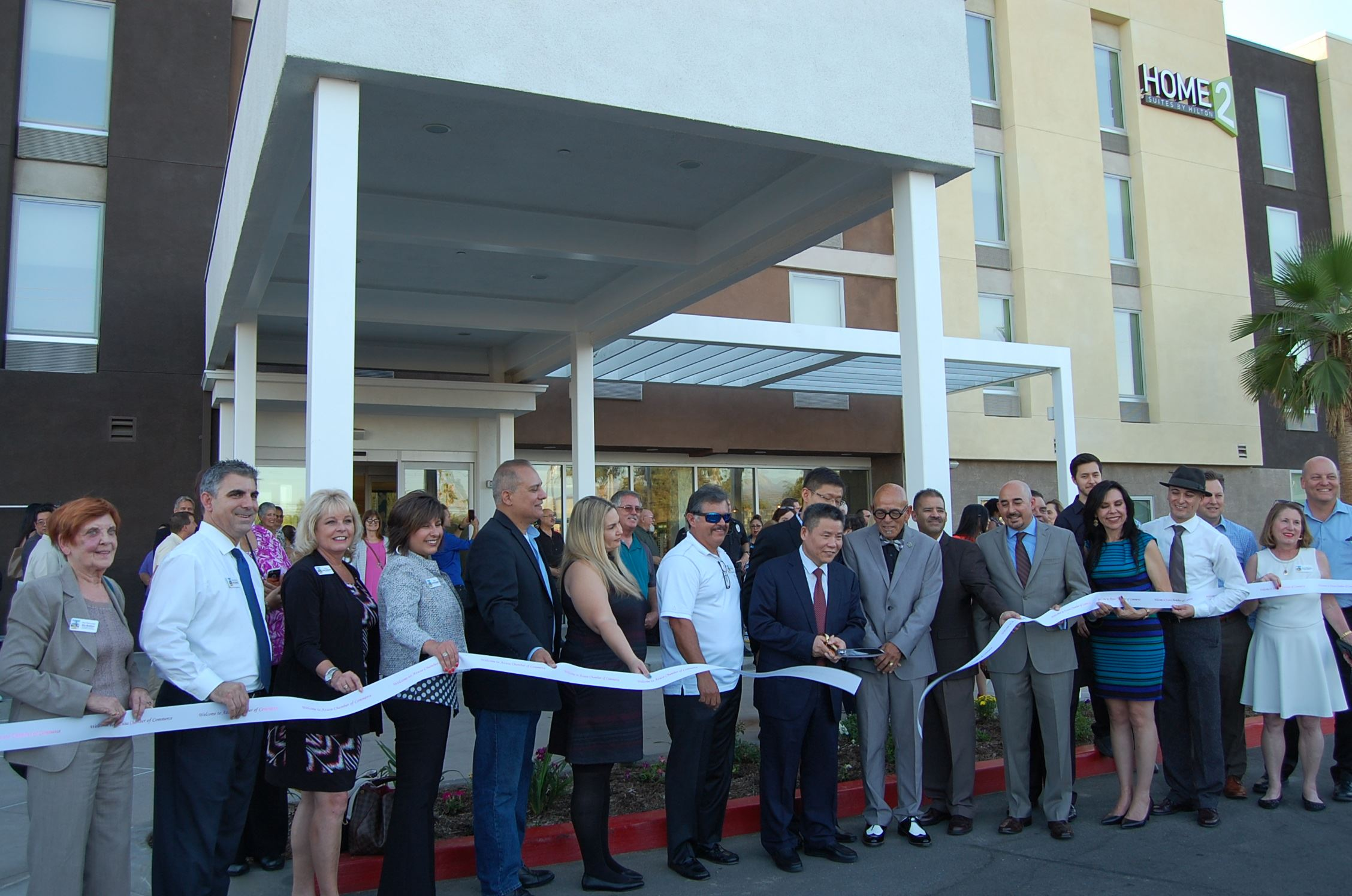 Ribbon Cutting Home 2 Suites